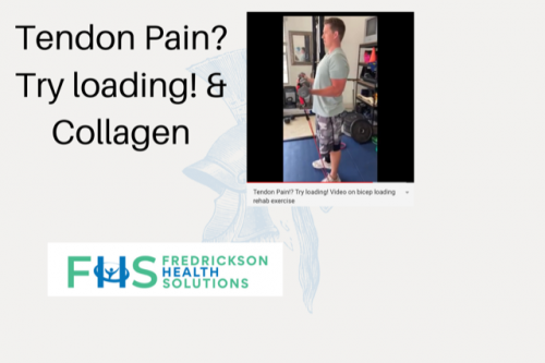 Tendon Pain? Try loading exercises and Collagen! -Fredrickson Health Solutions